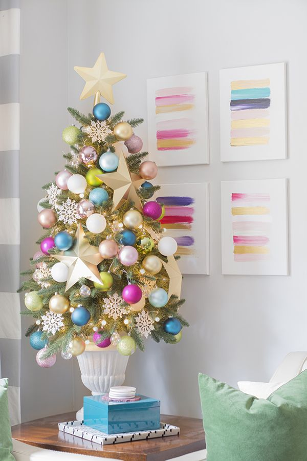 37 Christmas Tree Decoration Ideas - Pictures of Beautiful - small decorated christmas trees