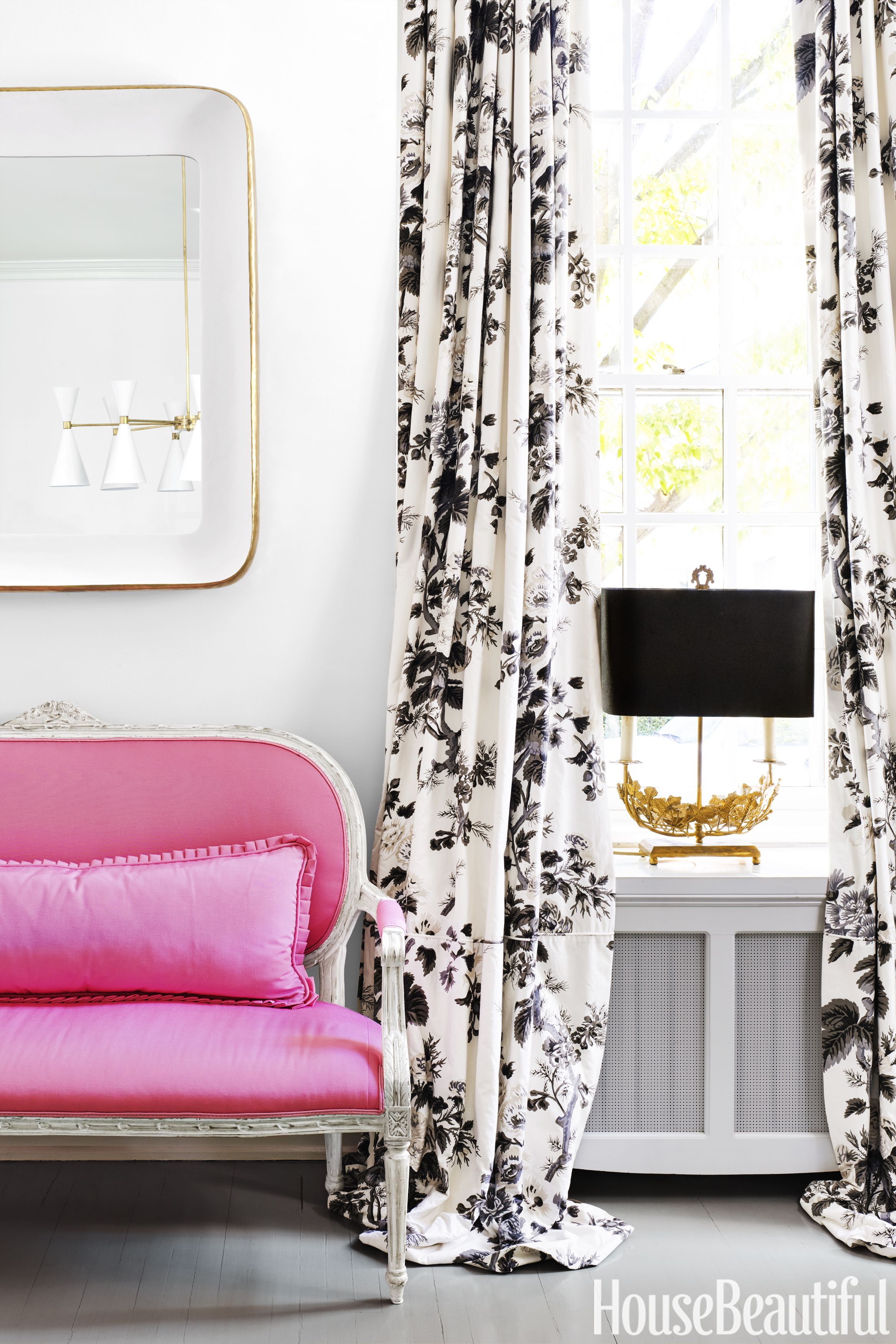Pink Living Room Curtains Pink Home Decor Pink Decorating Ideas