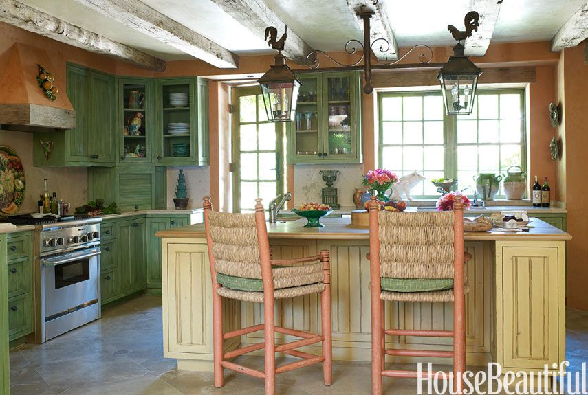 Two Tone Kitchen Cabinets 15 Best Green Kitchens - Ideas For Green Kitchen Design