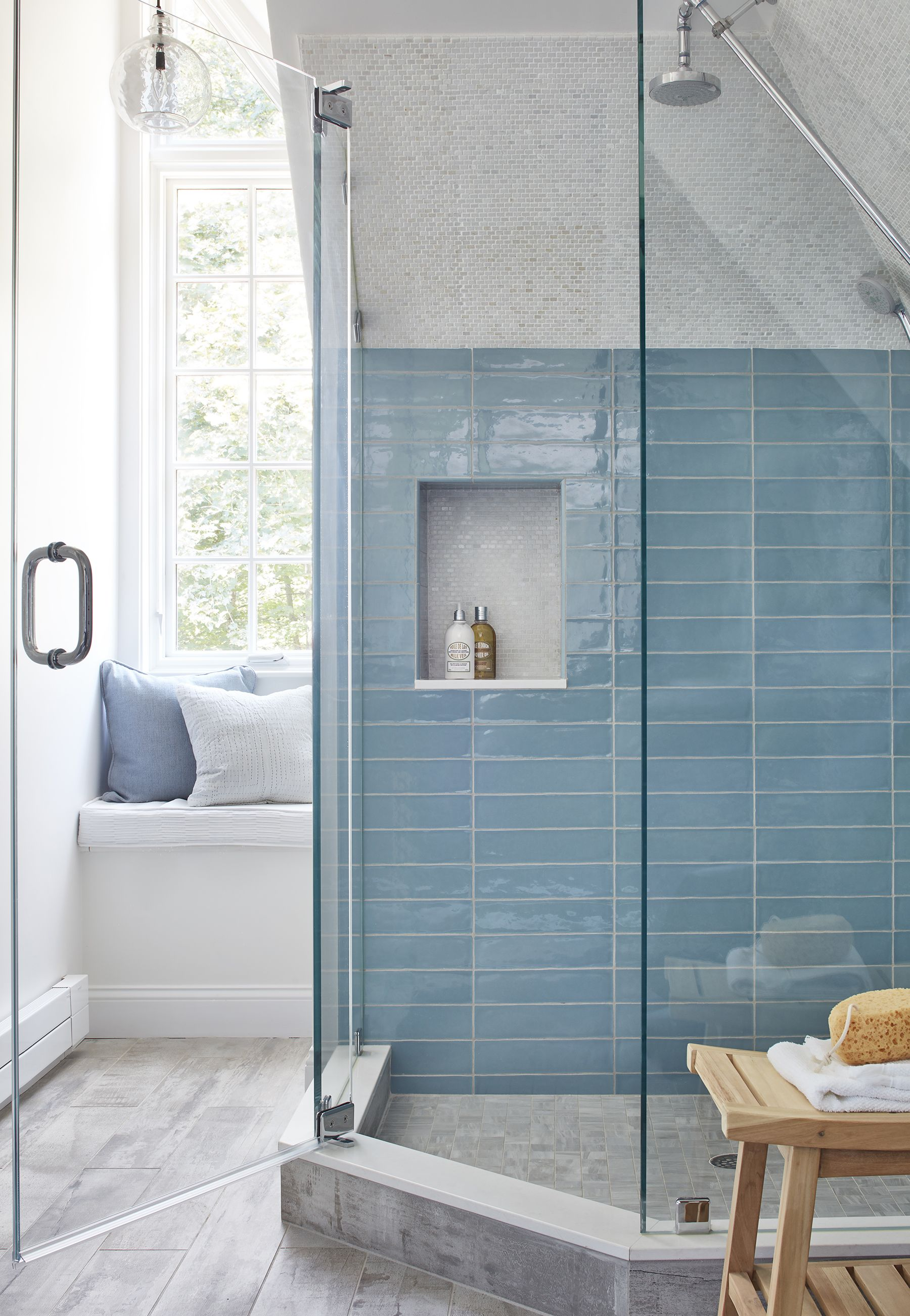 24 Creative Blue And Green Tiled Bathrooms Best Tiled Bathroom Ideas