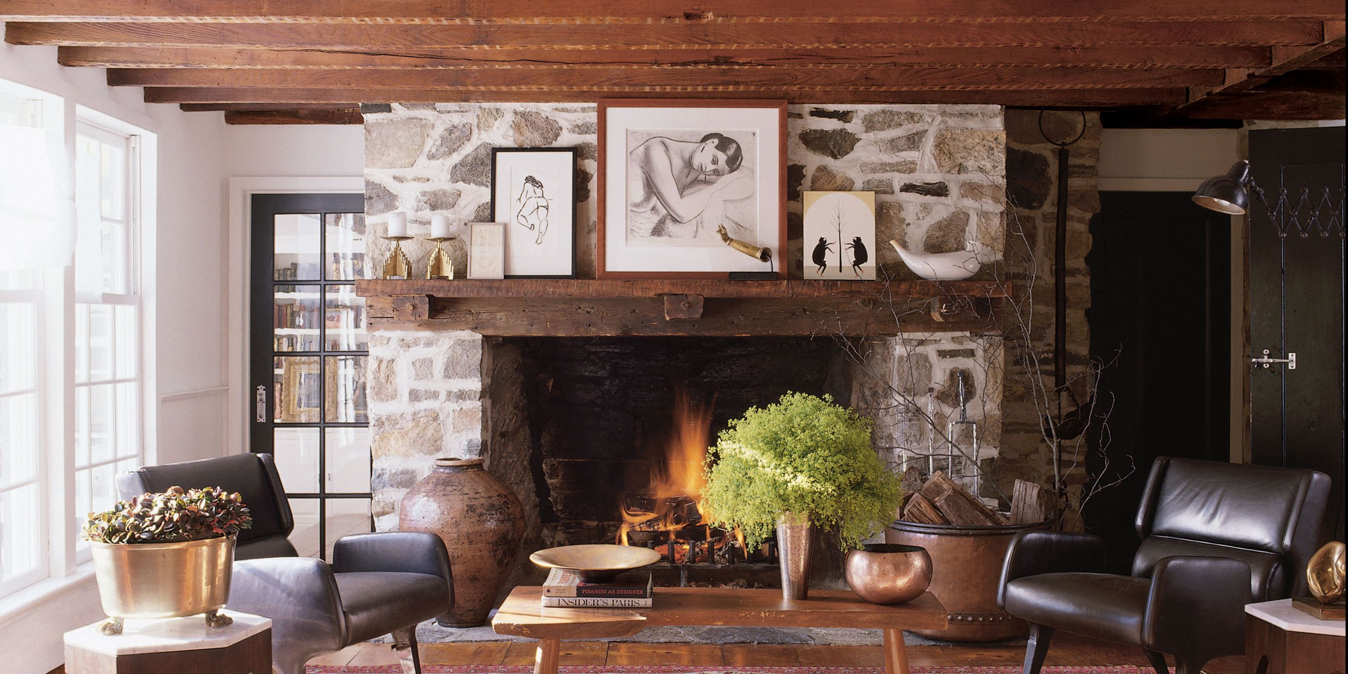Fireplaces With Stone Surrounding 24 Unique Fireplace Mantel Ideas Modern Fireplace Designs