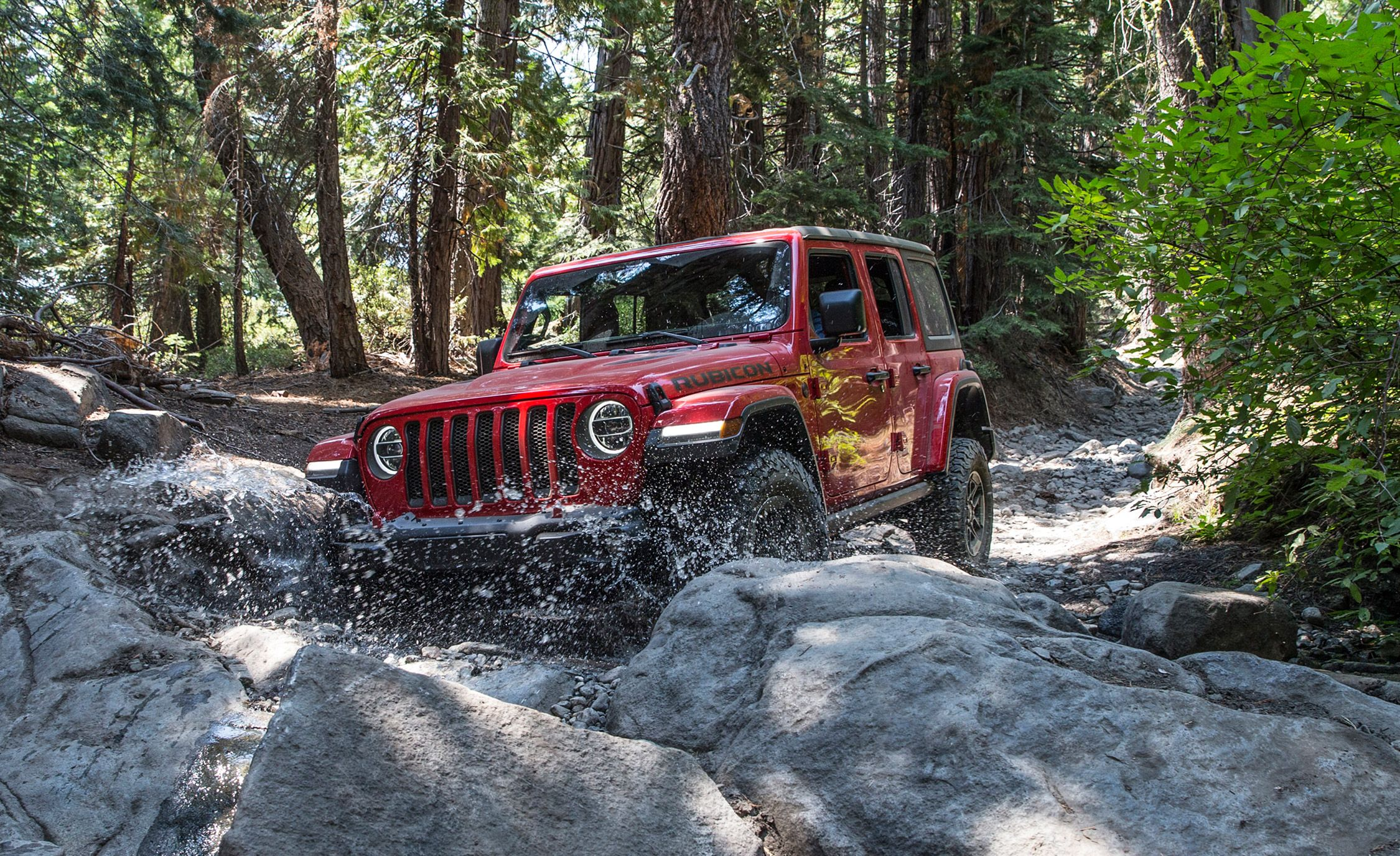 Jeep Trails New Jeep Wrangler On Rubicon Trail Jl Wrangler Rock Crawling