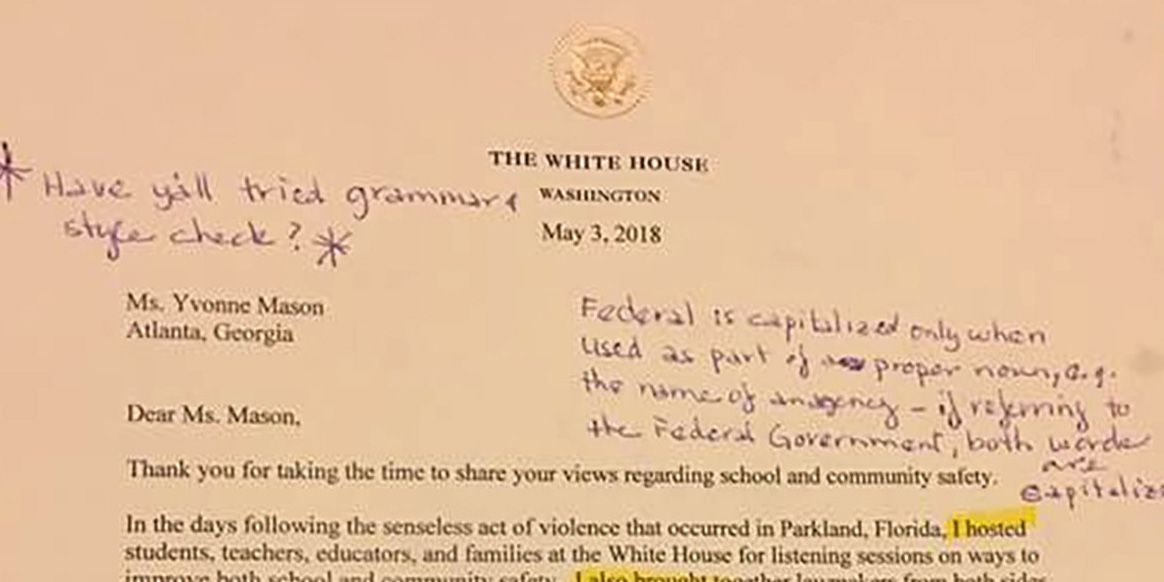 An English Teacher Responded to a Letter from President Trump with - Letter To A Teacher