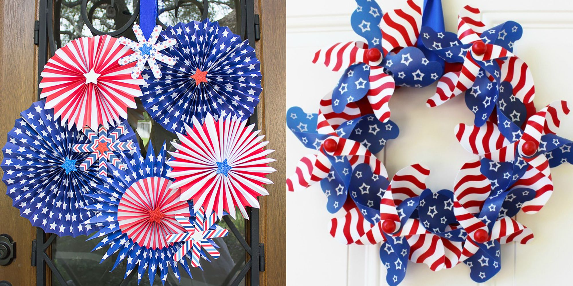 22 DIY 4th of July Wreaths - How to Make a Patriotic Wreath