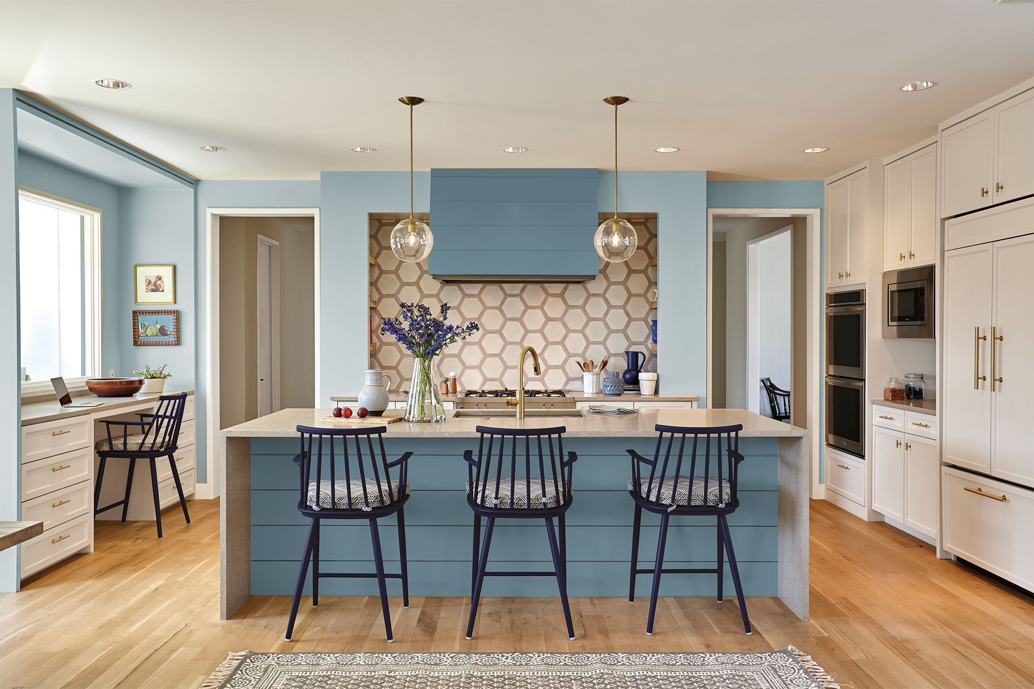 Pale Blue Kitchen 40 Blue Kitchen Ideas Lovely Ways To Use Blue Cabinets And Decor