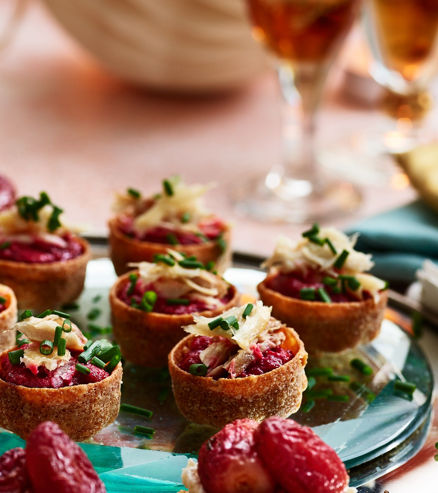 Canape Relax Joanna Beetroot Horseradish And Smoked Mackerel Cups