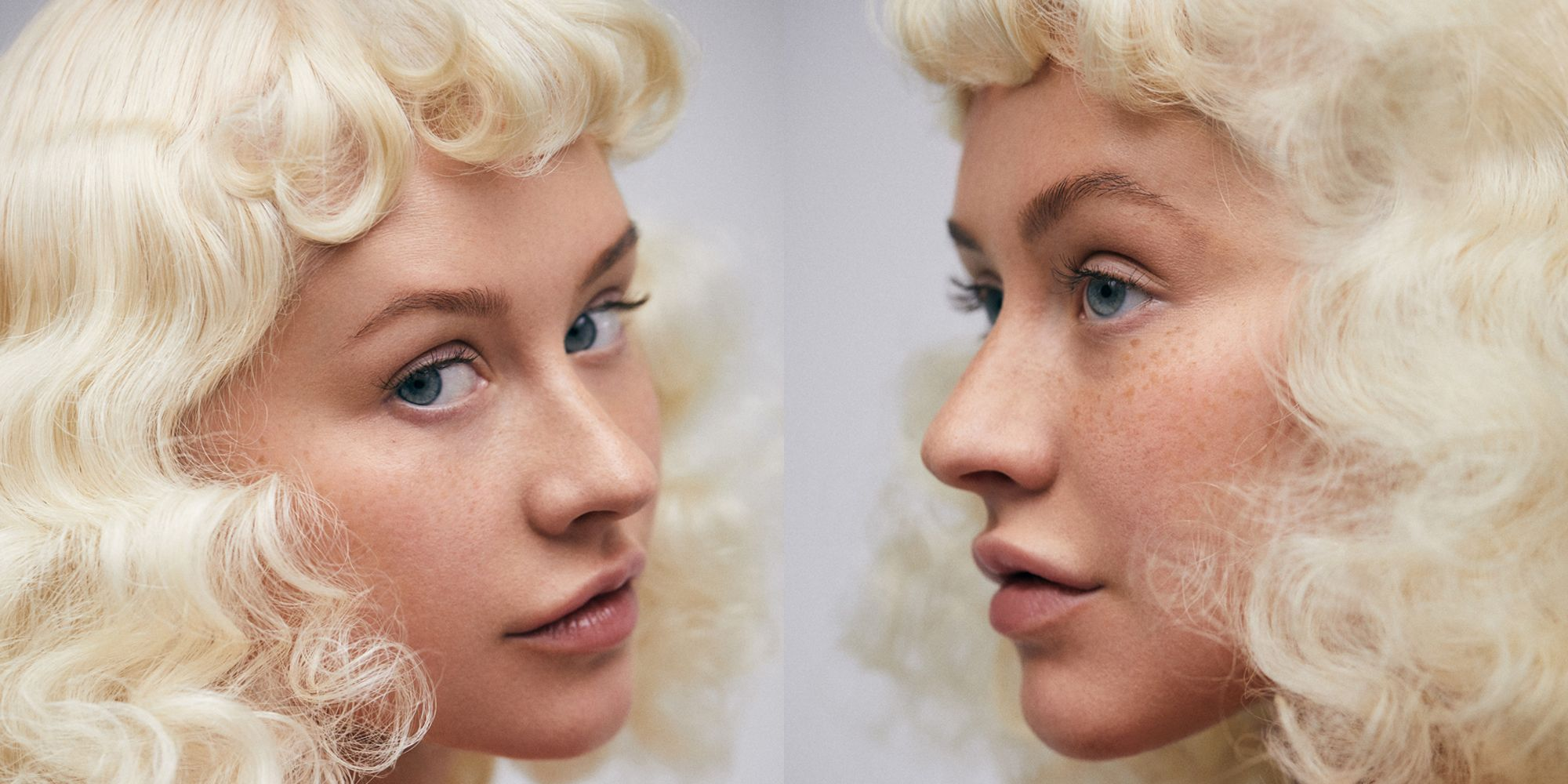 Christina Aguilera Poses Without Makeup For Paper Magazine