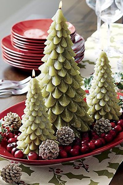 38 Christmas Table Decorations  Centerpieces - Ideas for Holiday