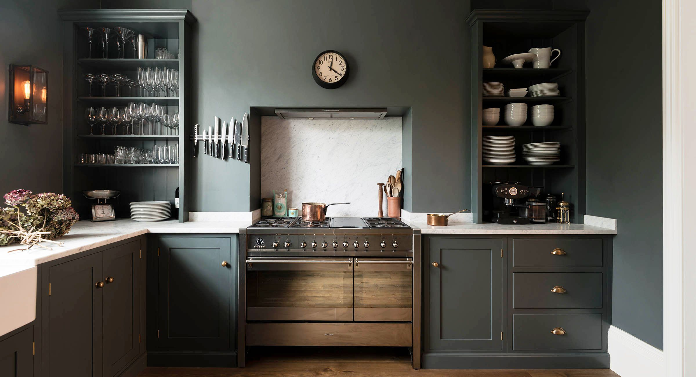 Kitchen Cabinets Painted Grey 34 Best Kitchen Paint Colors Ideas For Popular Kitchen Colors