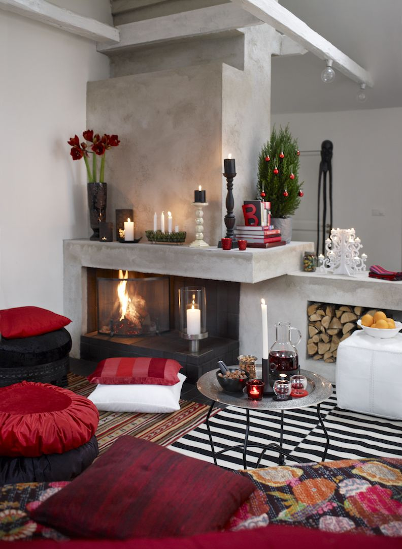 Elle Decoration Weihnachten 15 Stunning Christmas Living Rooms Holiday Living Room Decor Ideas