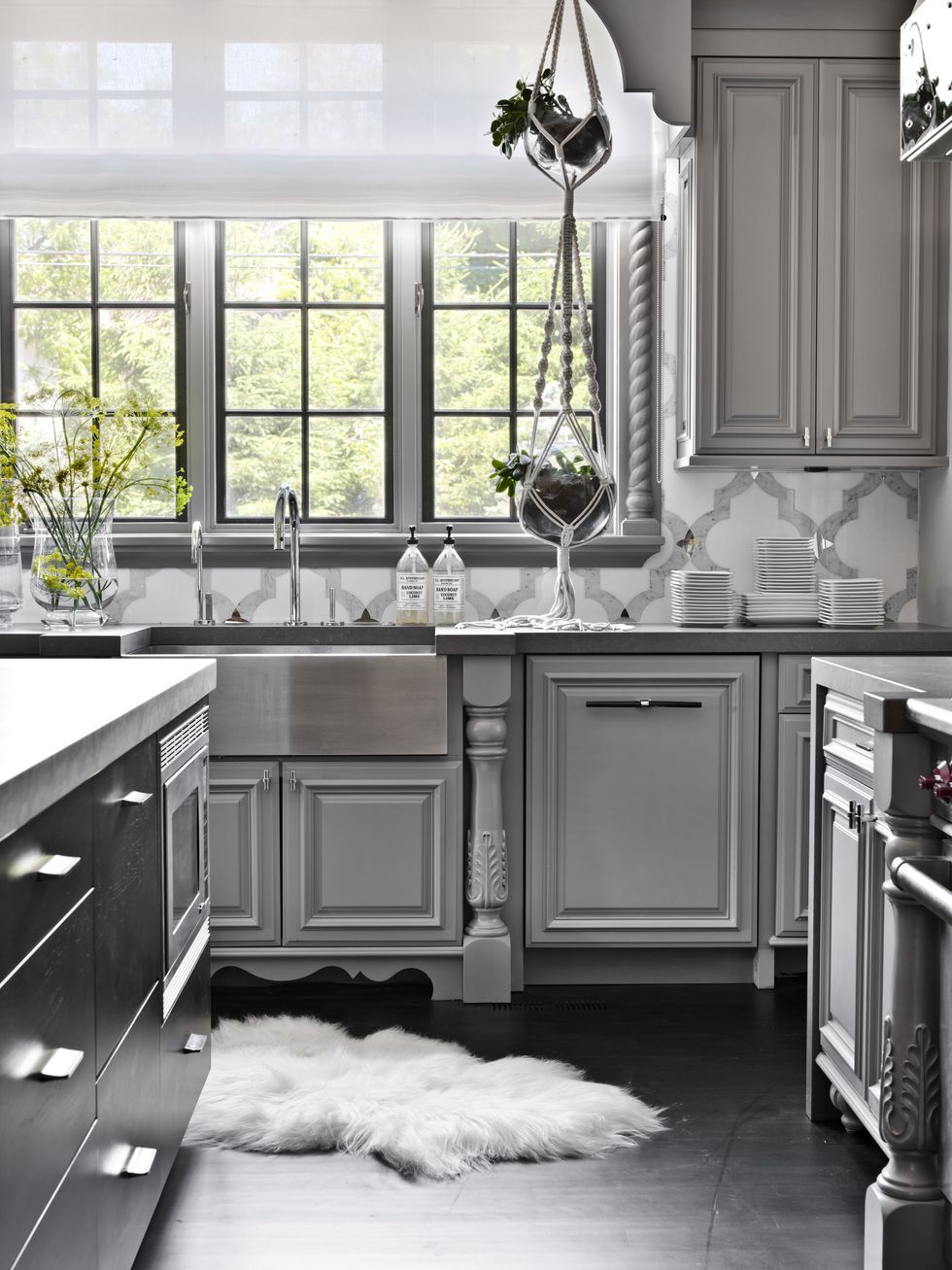 Grey Kitchen Cabinets What Colour Walls 14 Best Grey Kitchen Cabinets Design Ideas With Grey Cabinets