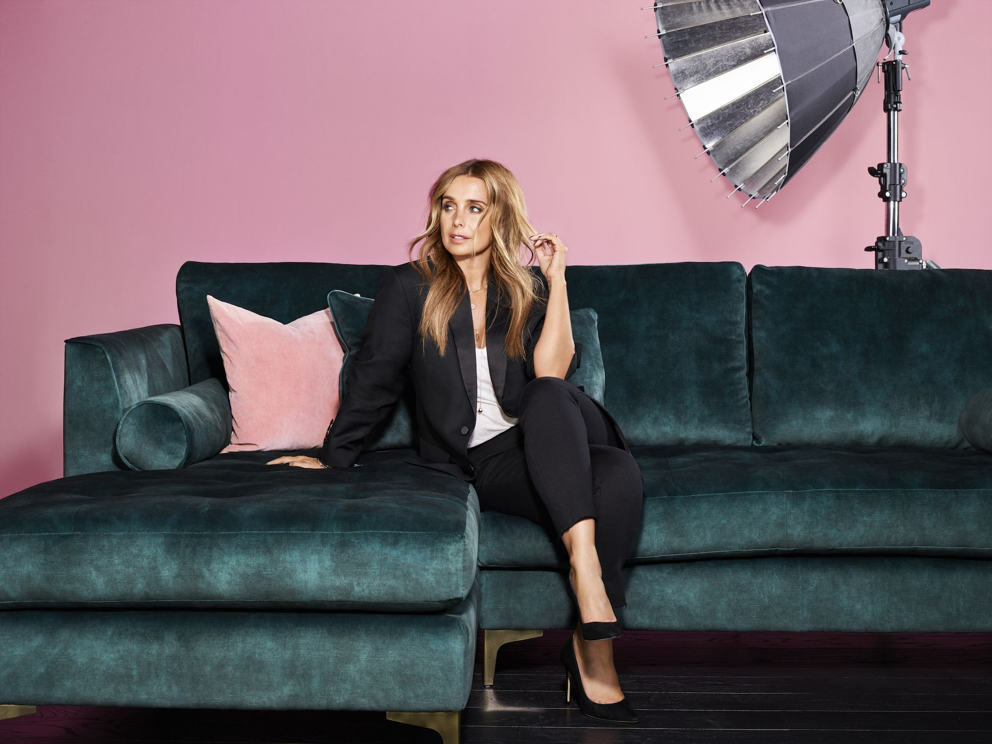Sofa Sale Harveys Louise Redknapp Launches Bold By Louise Sofa Collection With