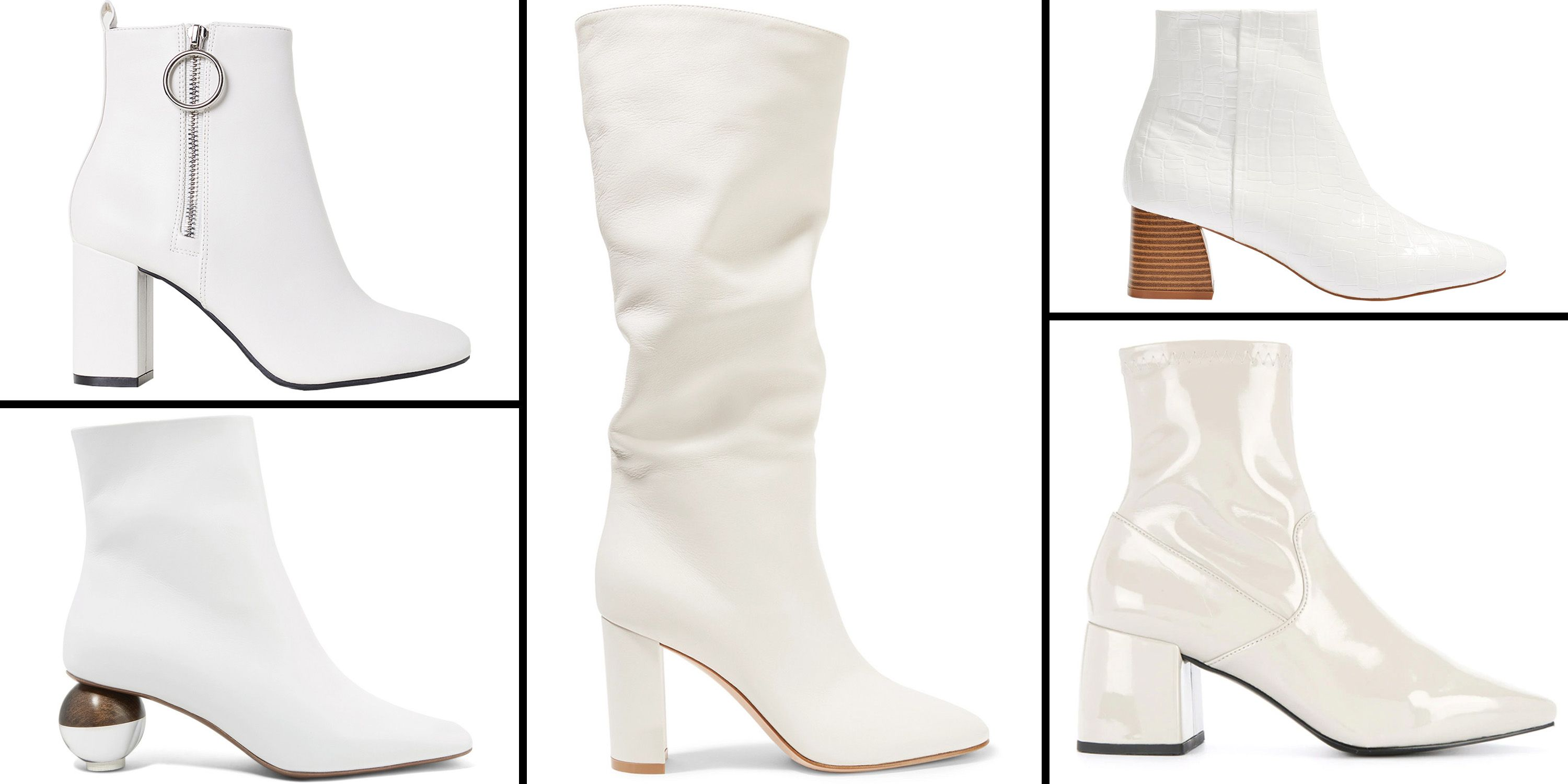 White Photo The 16 Best White Boots To Shop For Fall 2018 White Boots For Women
