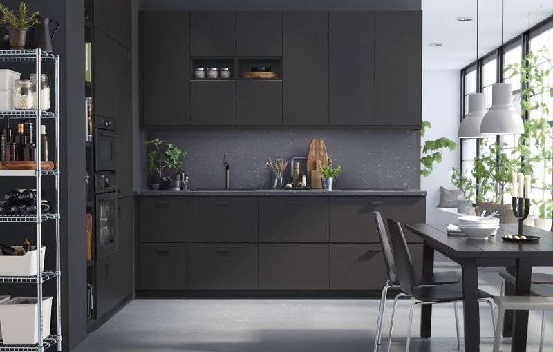 Large Of Black Kitchen Cabinets
