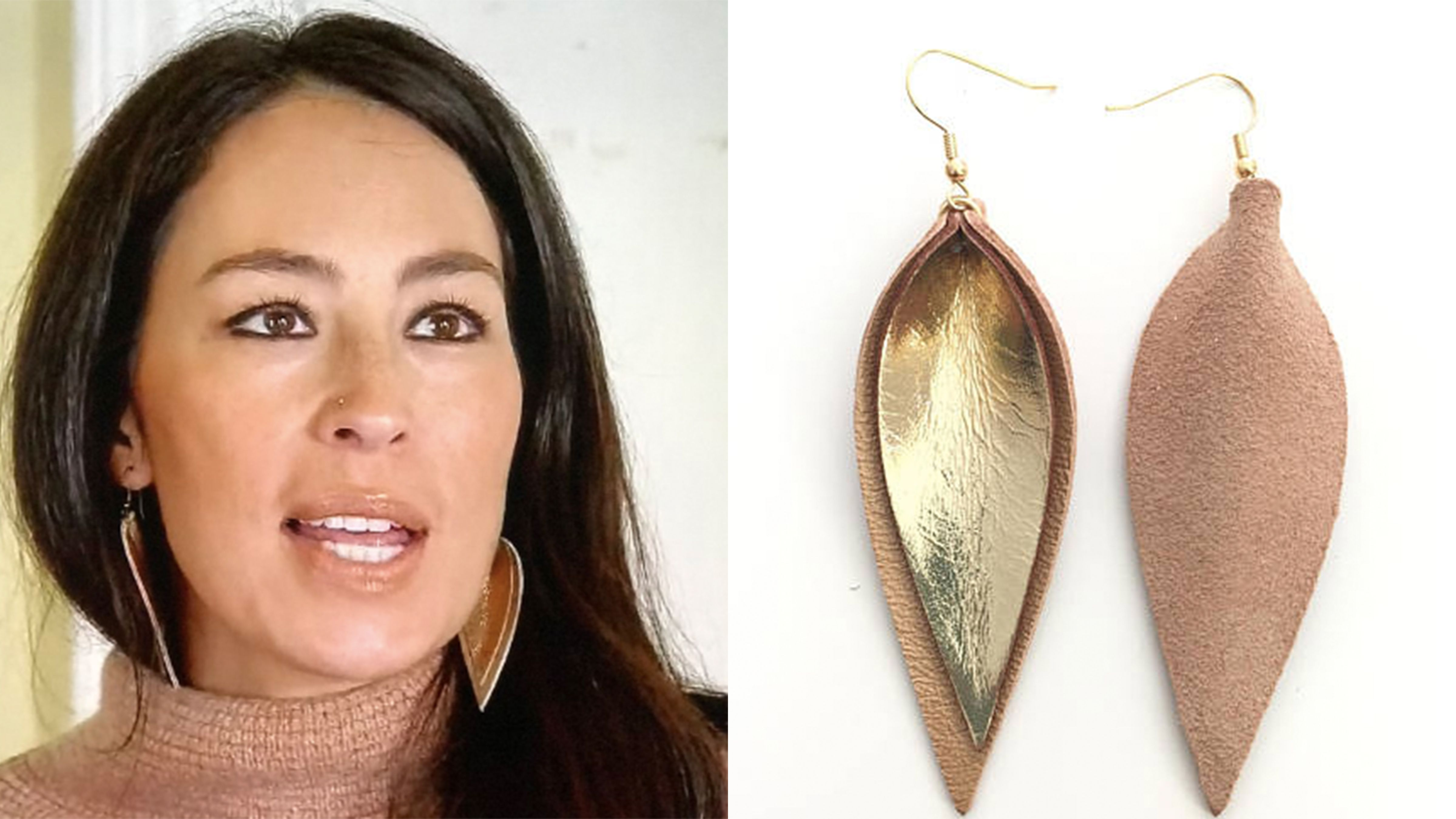 Magnolia Farms Jewelry Joanna Gaines Leather Leaf Earrings Where To Buy Leather Leaf