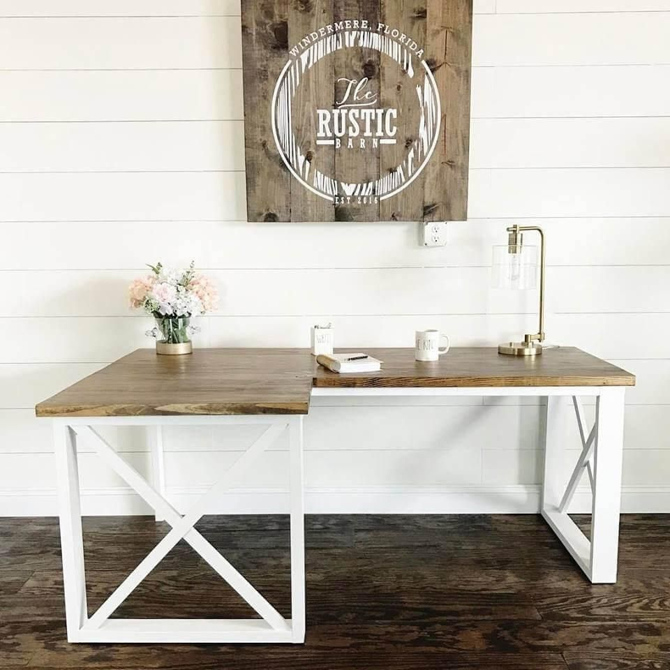 Diy Farmhouse Style Desk 15 Diy Desk Plans For Your Home Office How To Make An Easy Desk