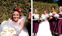 We Are So Jealous Of This Bride's Delicious Donut Bouquet