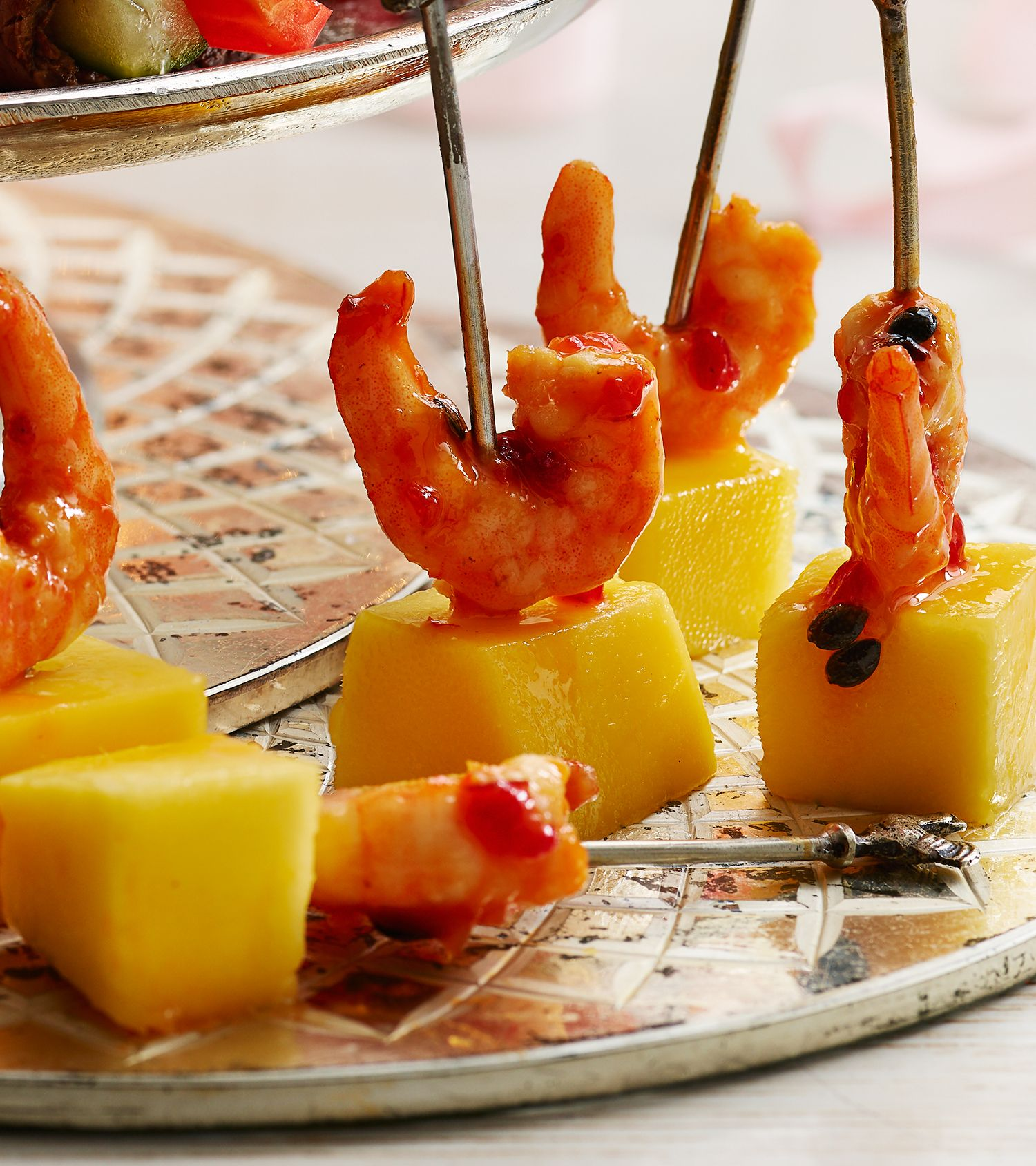 Canape Relax Joanna Sticky Prawn And Mango Skewers
