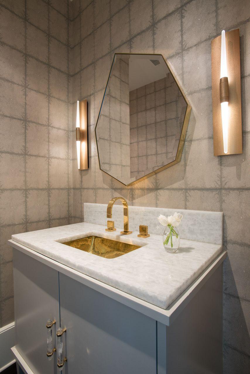 Black And White Wallpaper Decor 40 Stunning Powder Room Ideas Half Bath Decor Amp Design