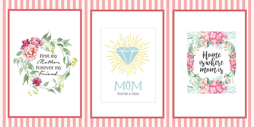 mother day card print - Selol-ink