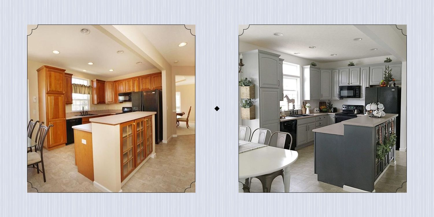 15 Diy Kitchen Cabinet Makeovers Before After Photos Of Kitchen Cabinets