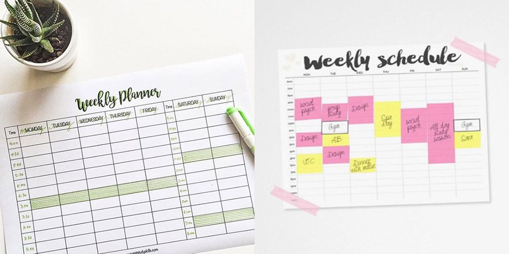 Revision timetable Revision timetable template