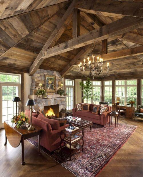 Medium Of Rustic Living Room