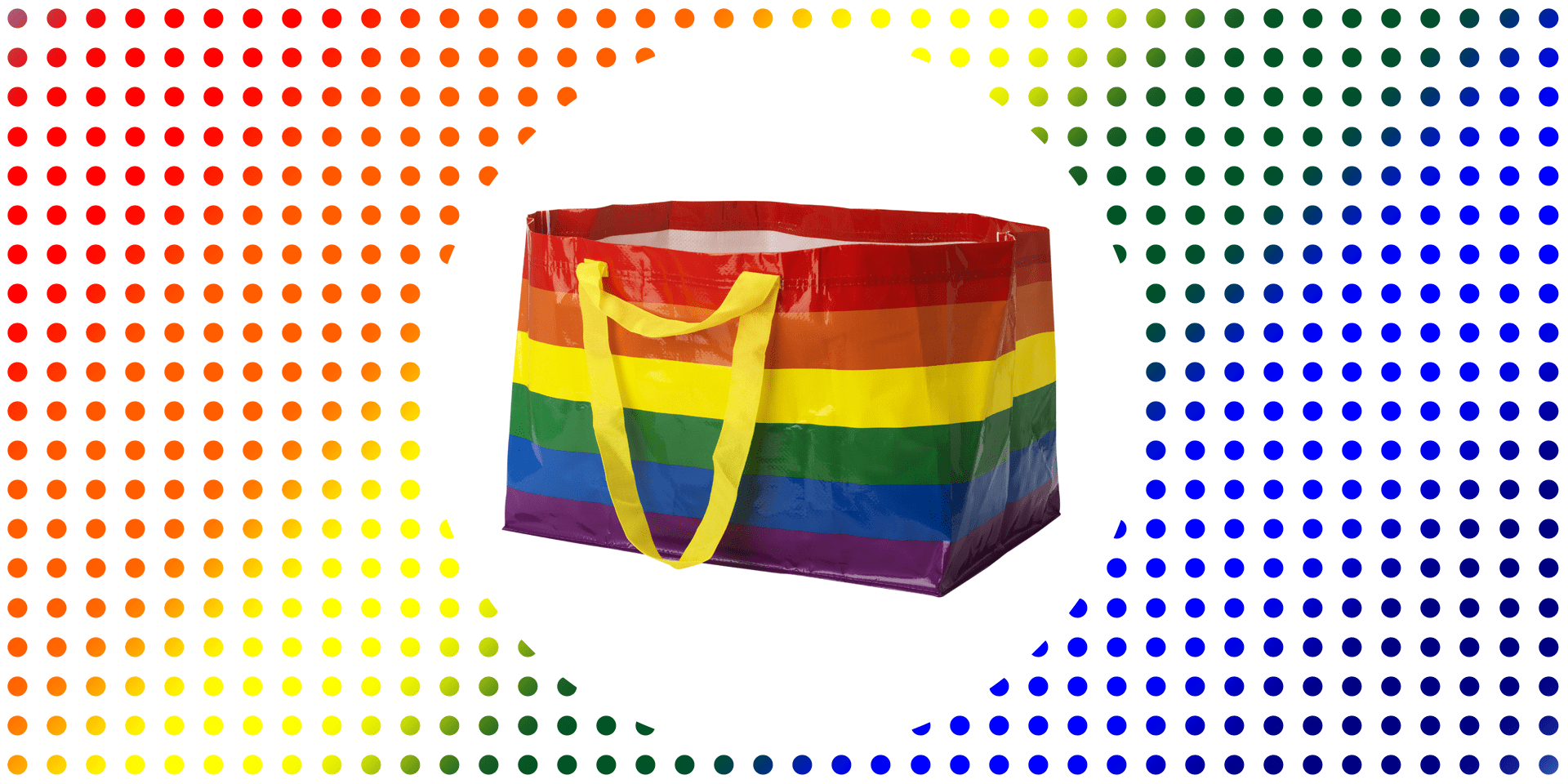 Ikea Kit Dressing Ikea Releases Rainbow Kvanting Shopping Bag For Pride Month With
