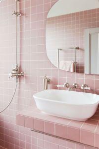 Tour 2LG's Pink Bathroom - Pink Bathroom Tiles