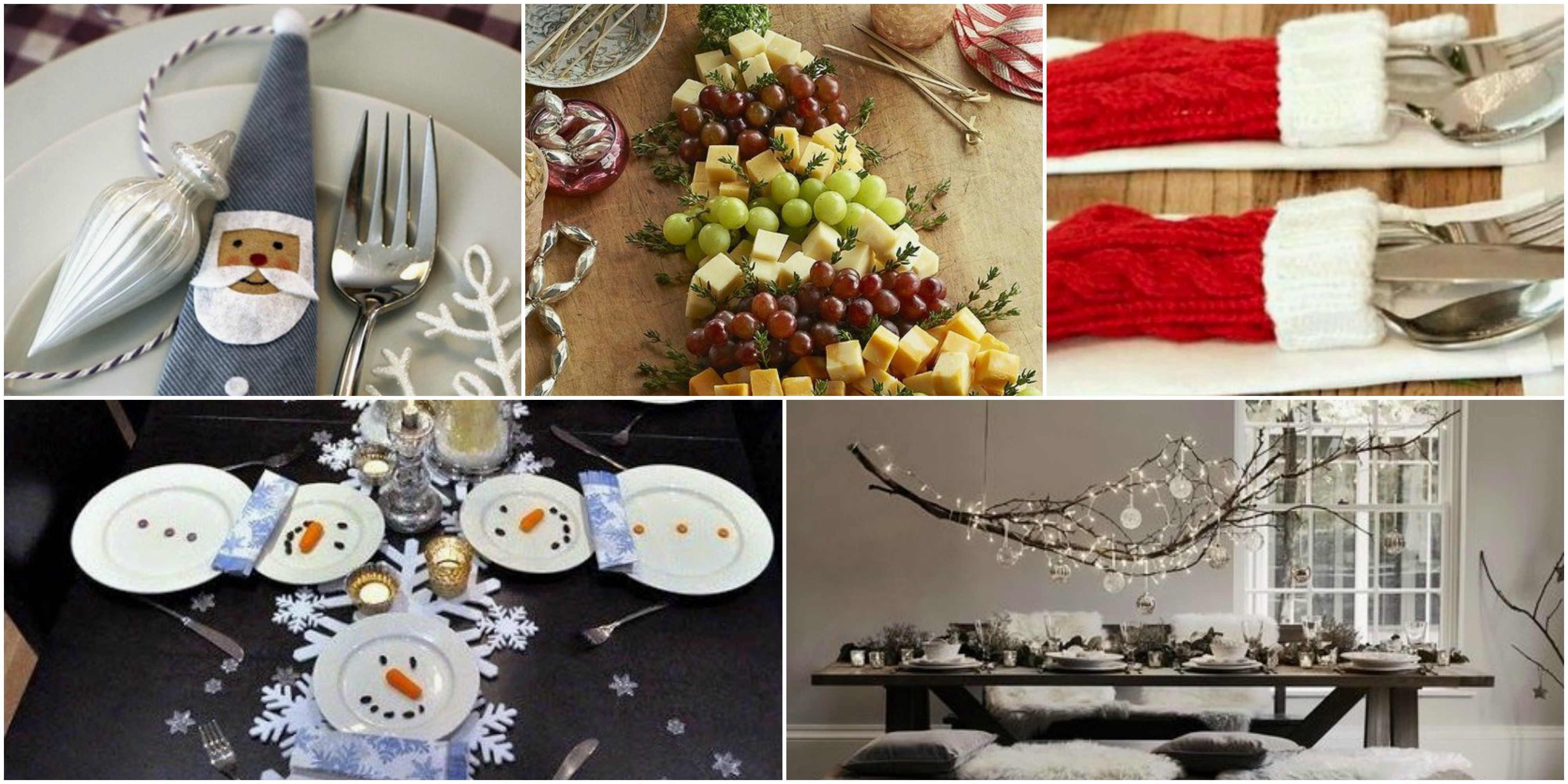 15 Fun And Quirky Christmas Table Setting Ideas Christmas Table Decorations