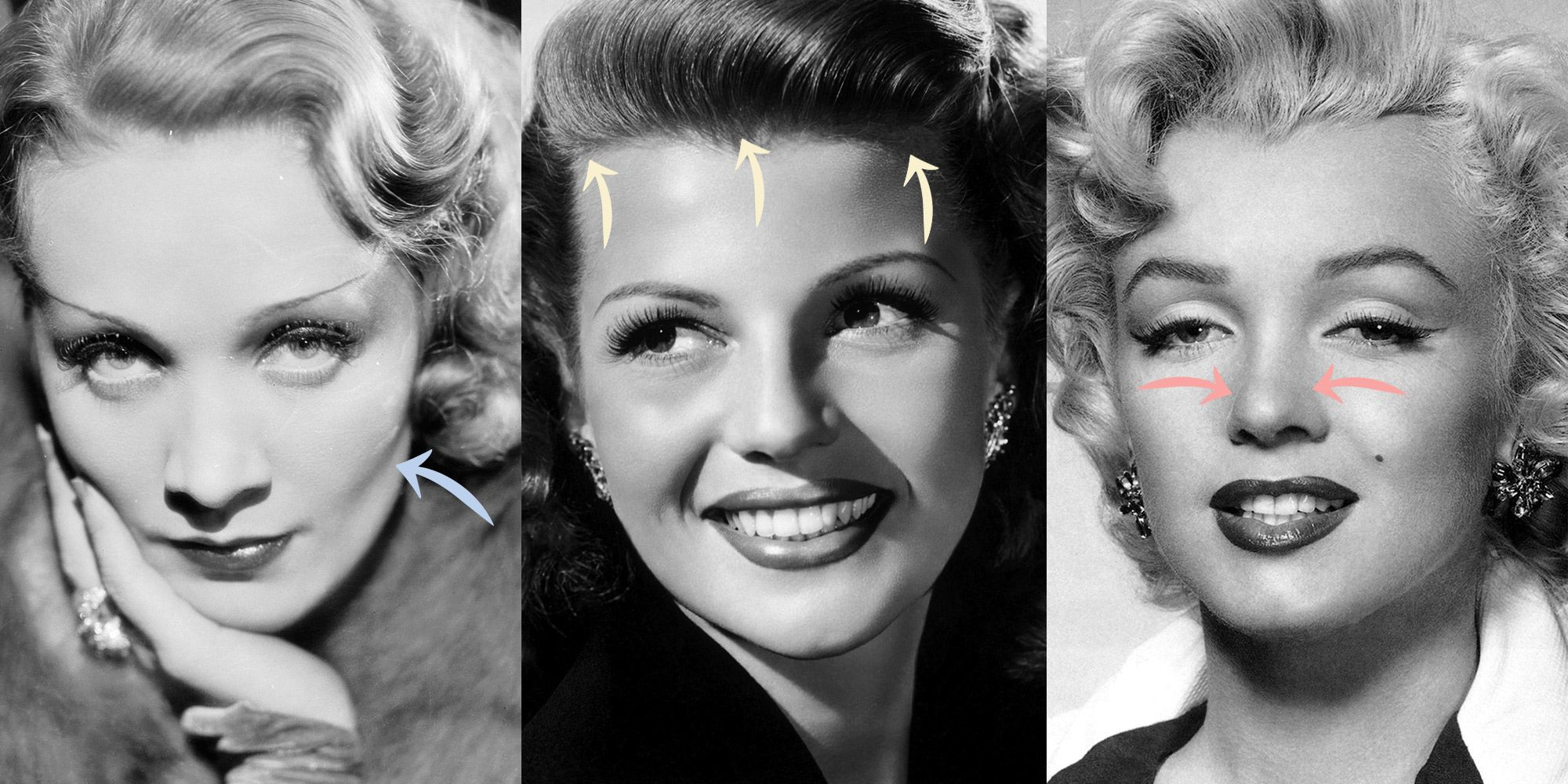 Golden Eye Herborn Old Hollywood Plastic Surgery Secrets Marilyn Monroe Plastic Surgery