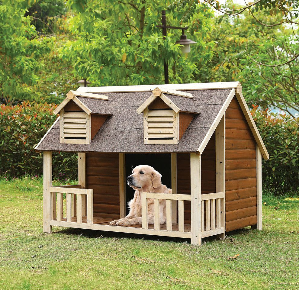 Dog House Rufus Cream Oak Dog House