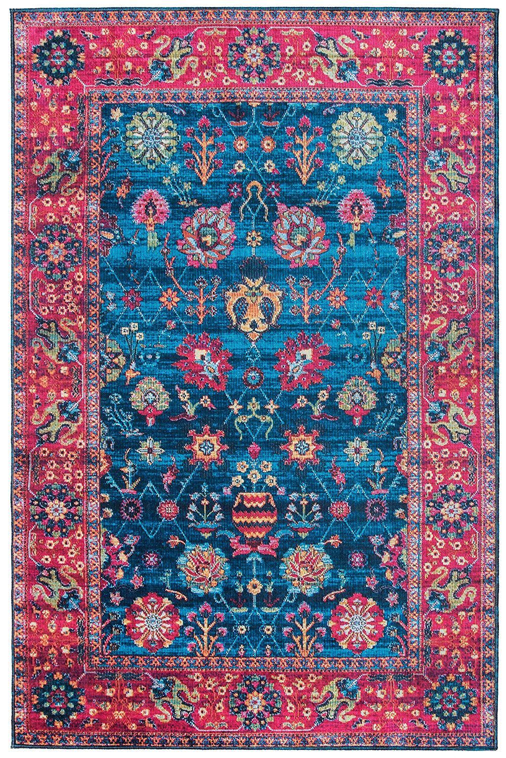 Machine Wash Rugs Mylife Rugs Traditional Vintage Washable Rug