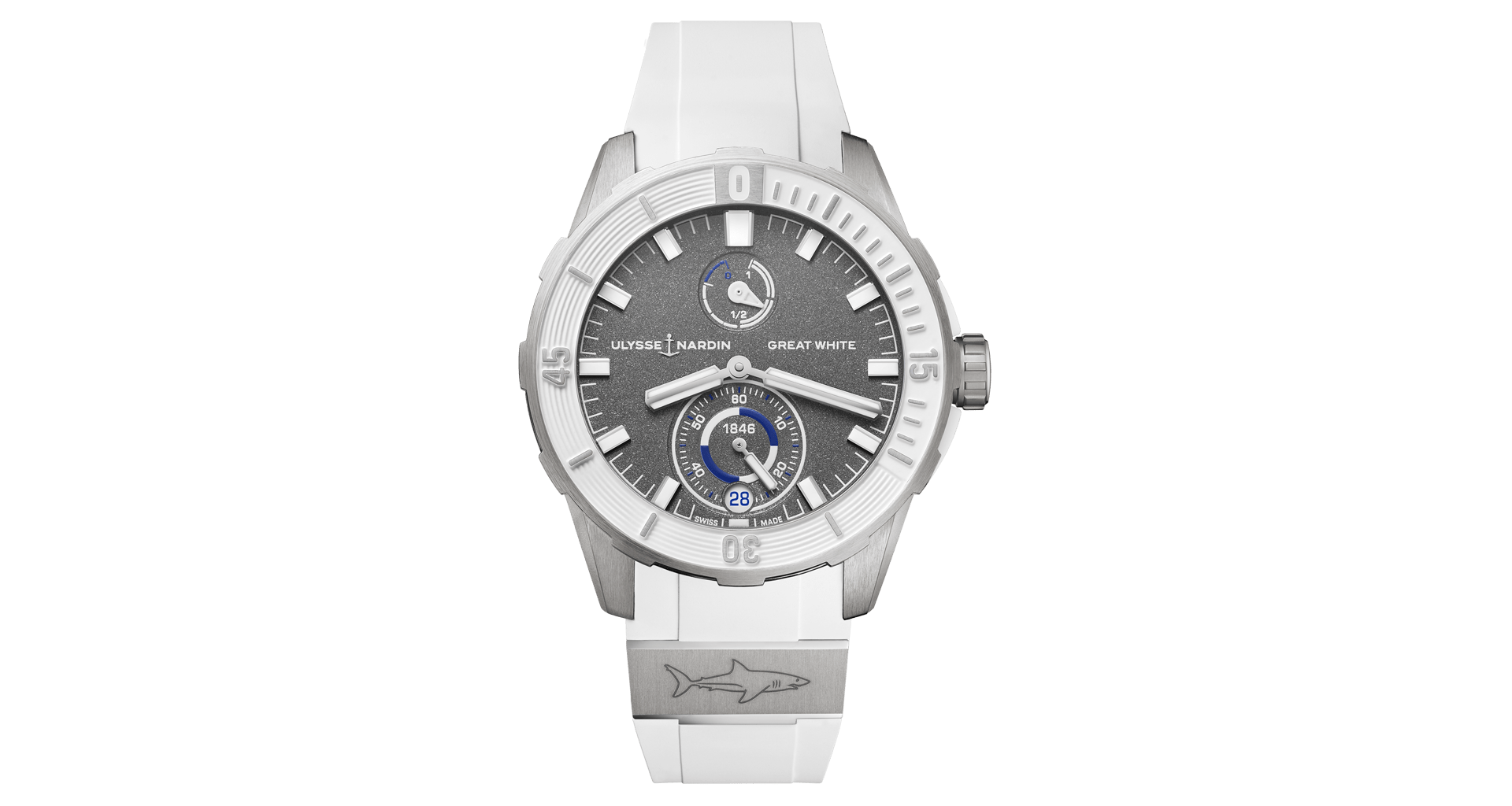 Steel Watch Ulysse Nardin Diver Great White