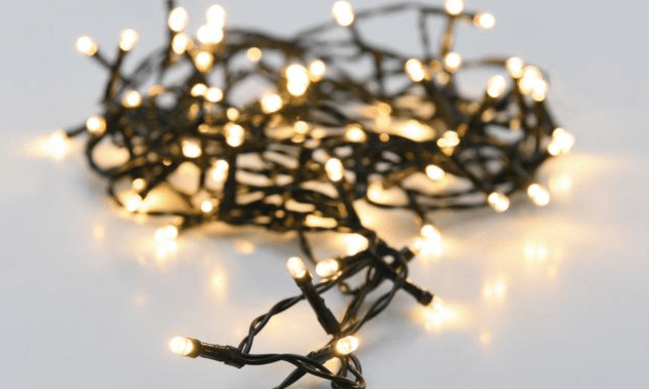 Christmas Led Lights Canada Novolink 34 Ft 100 Light Led Warm White Battery Operated Decorative String Light