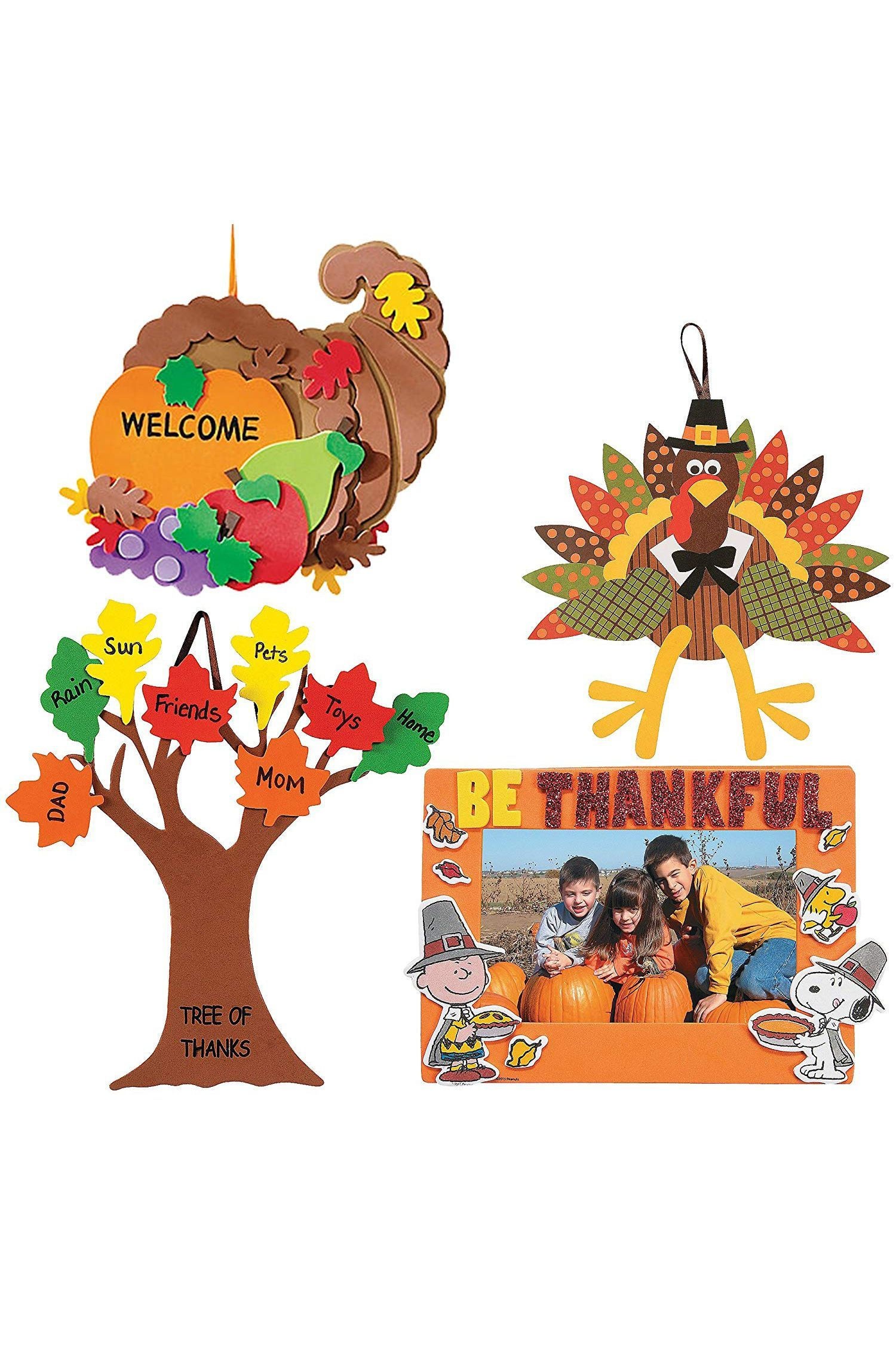 Art Decorating And Crafting Easy Thanksgiving Crafts Set
