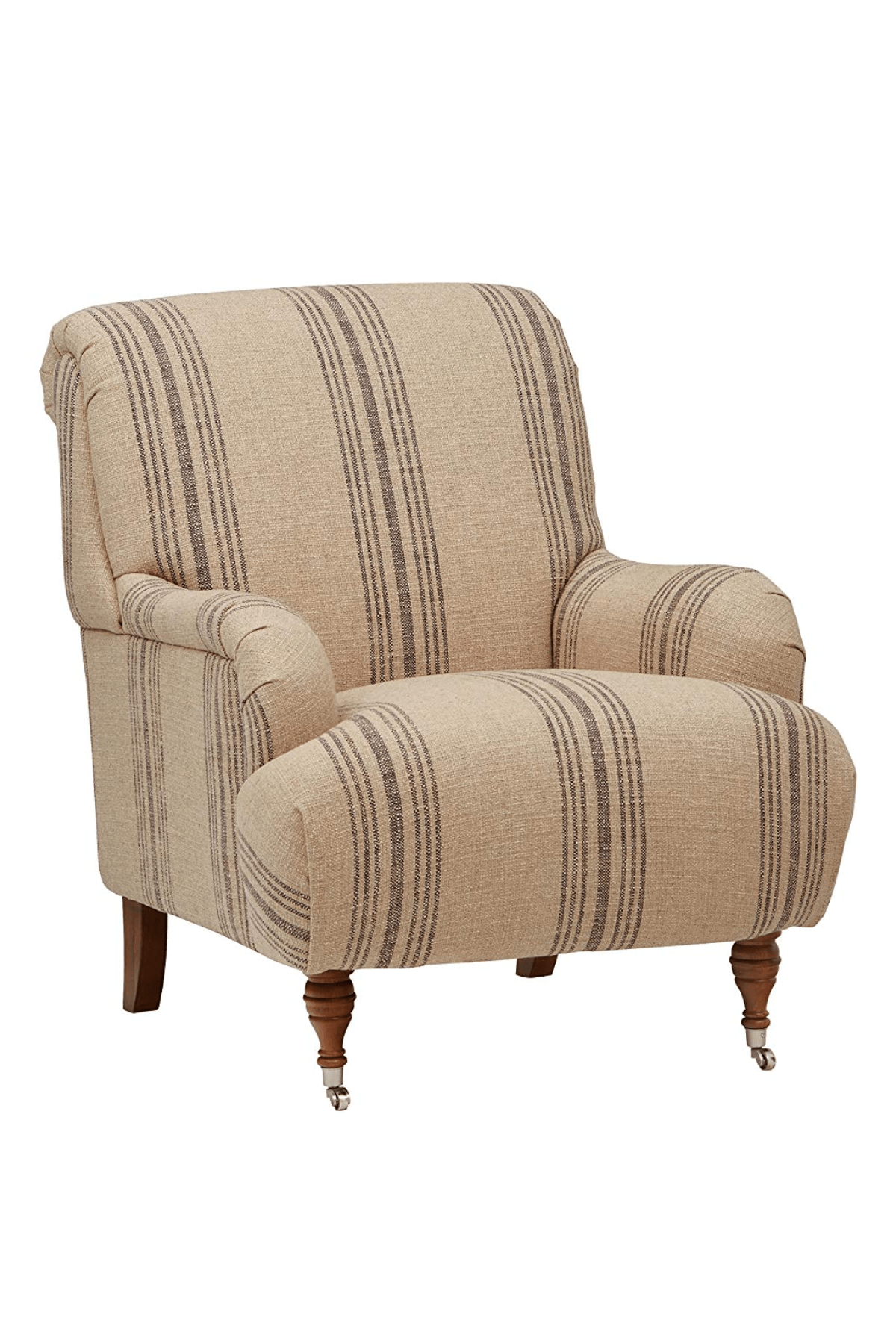 Oversized Reading Chair With Ottoman Aubree Farmhouse Accent Chair