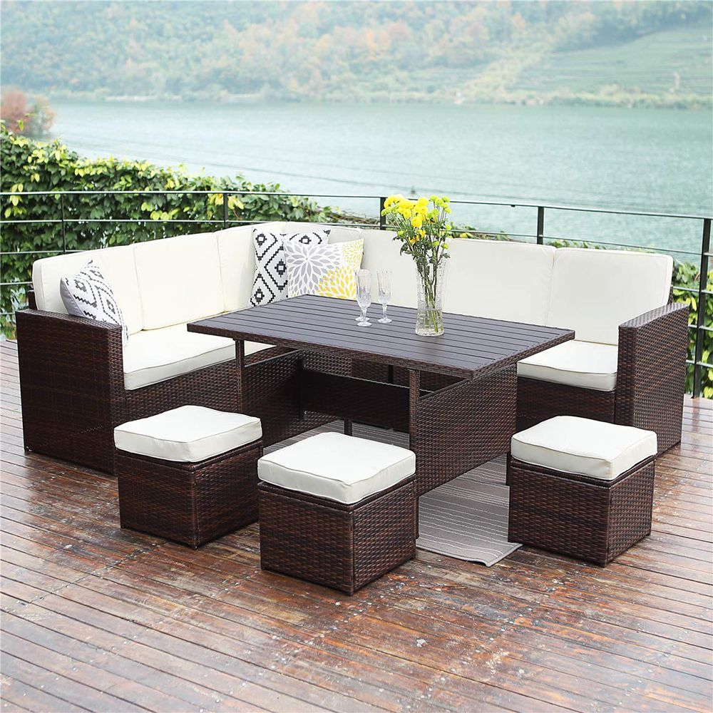 Patio Outdoor Wisteria Lane Patio Sectional Furniture Set