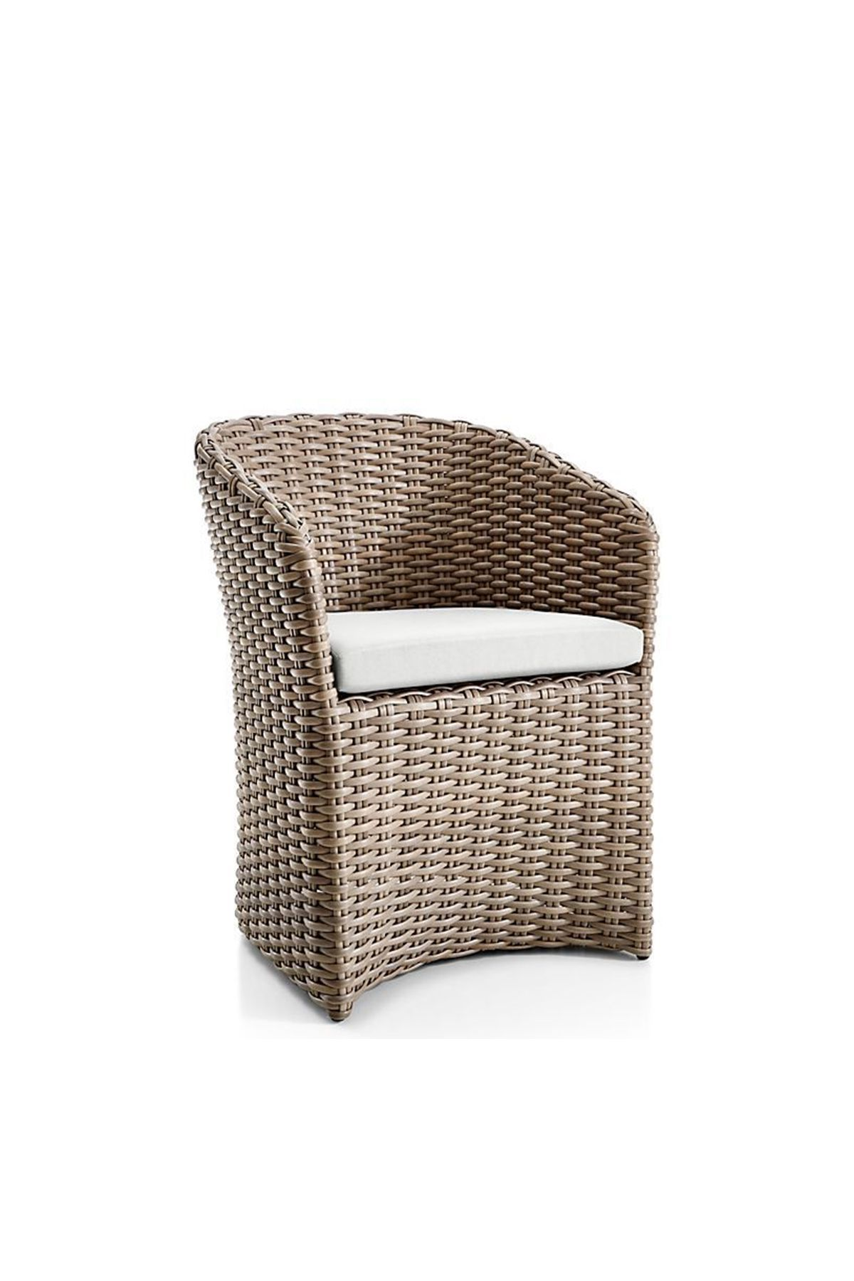 Garten Lounge Dining Cayman Outdoor Dining Chair With White Sand Sunbrella Cushion
