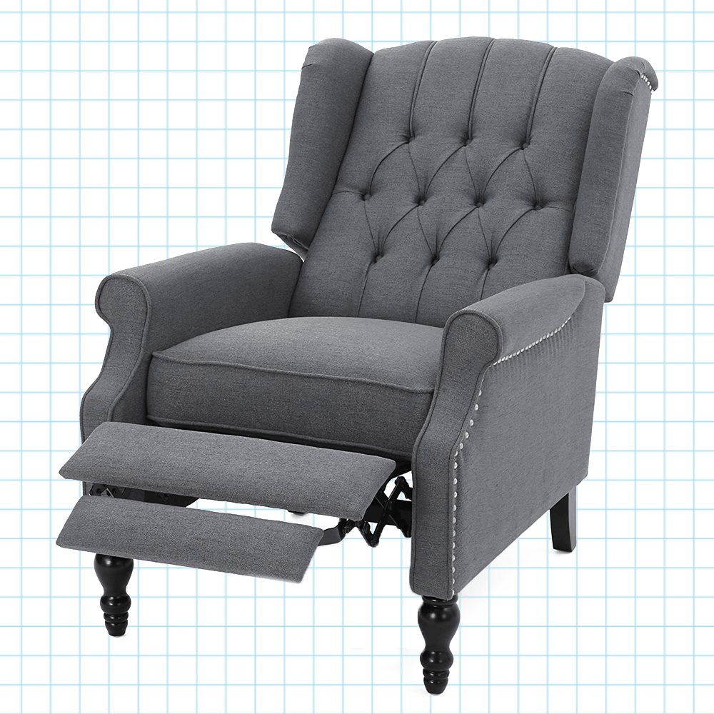 Best Rated Small Recliners Elizabeth Tufted Accent Recliner Chair