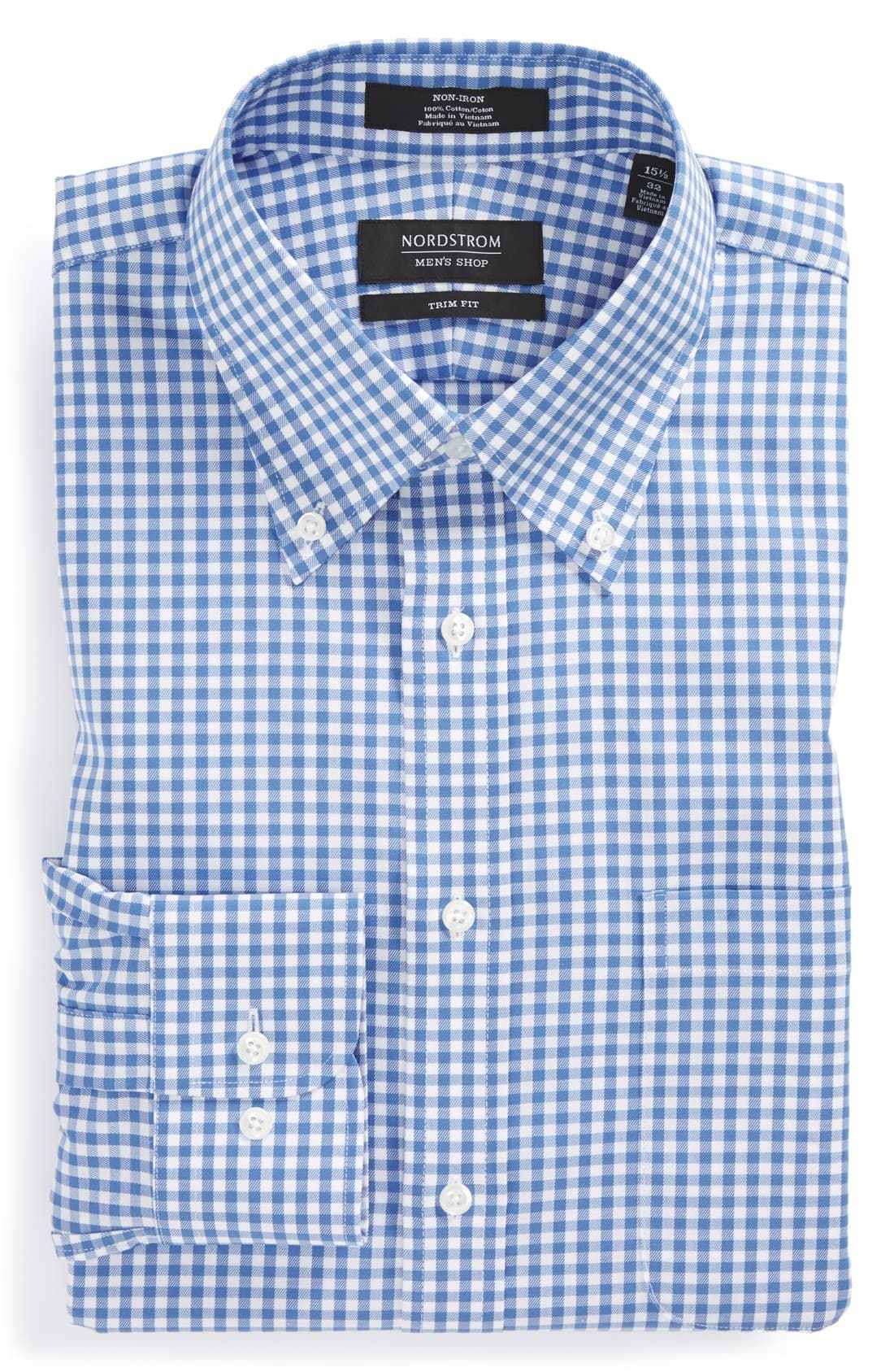 Garderobe Vintage Amazon Nordstrom Men S Shop Trim Fit Non Iron Gingham Dress Shirt