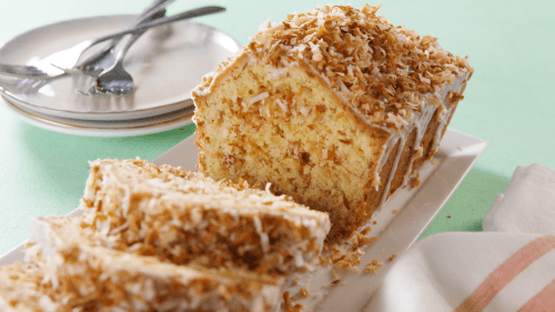 Famed Toasted Coconut Pound Cake Recipe How To Make Toasted Coconut Poundcake Toasted Coconut Pound Cake Recipe How To Make Toasted Coconut Coconut Pound Cake Lime Glaze Coconut Pound Cake Recipe Paul