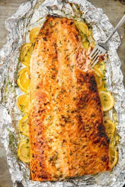 Captivating Easy Baked Salmon Fillet Recipe How To Bake Salmon Salmon Steak Recipe Panlasang Pinoy Salmon Steak Recipe Cast Iron Skillet