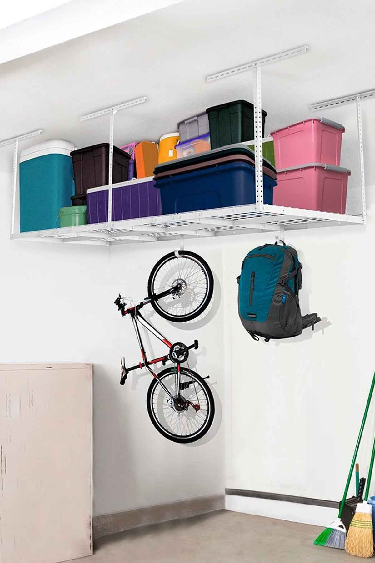 Tidy Garage Bike Rack Installation 20 Garage Organization Ideas Storage Solutions And Tips For