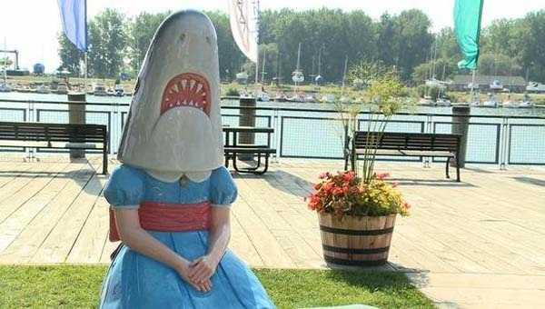 'Shark Girl' statue debuts at new home in Buffalo
