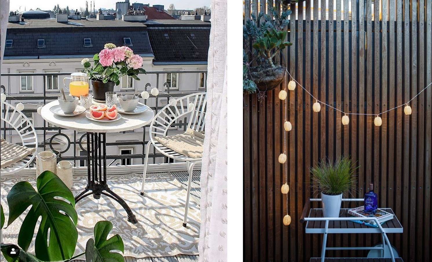 Balkon Inspiration Balkon Styling Lichterkette Teppich Co Hipster Home