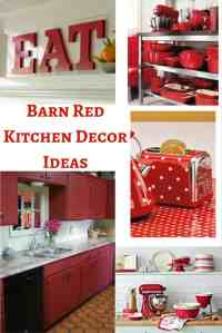 Barn Red Kitchen Decor Ideas - Hip Who Rae