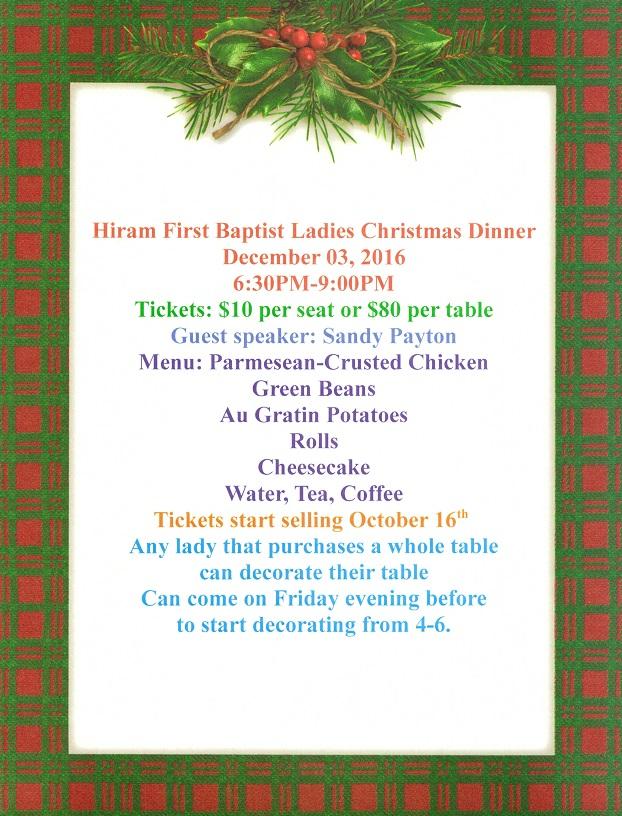 Hiram First Baptist Church » ladies-christmas-dinner-flyer