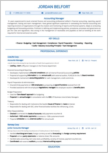 Accounting Manager Resume Sample by Hiration - sample resume for accounting manager