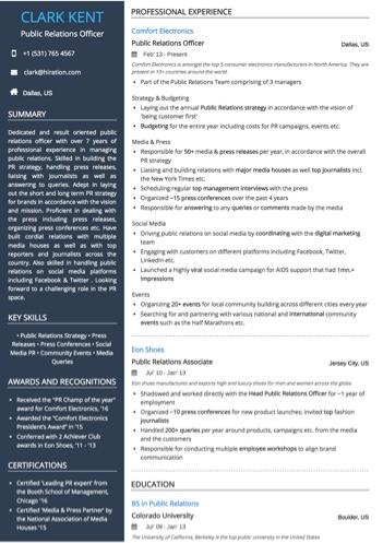 Public Relations Officer Resume Sample by Hiration - media officer sample resume
